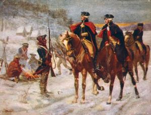 Washington and Lafayette at Valley Forge. Imagen: Wikipedia.