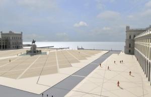 Proyecto futurista de renovación de la Praça do Comércio.