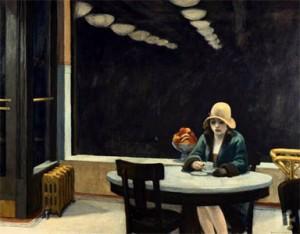 Automat, Edwuard Hopper, 1927, óleo sobre tela.