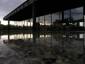 Neue National Gallery,  Berlín, 1968,  Mies van der Rohe.