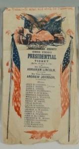 Papeleta electoral en la elección de Lincoln.