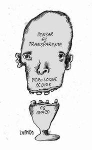 Caricatura de Zapata hoy en El Nacional, Caracas.
