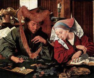 El cambista y su mujer (1539), Marinus van Reymerswaele.