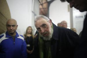 Última foto conocida de Fidel Castro tomada en diciembre de 2013.