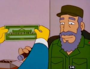 Fidel-Castro-en-los-Simpsons