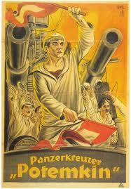 Afiche de la película El Acorazado Potemkin.