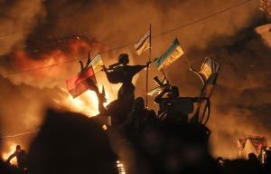 Plaza Independencia de Kiev el 18 de Febrero de 2014.