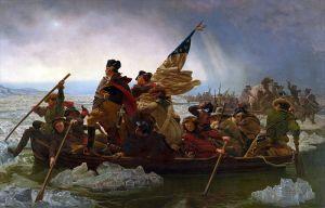 Washington cruzando el Delawere, 1851, por Emanuel Leutze.
