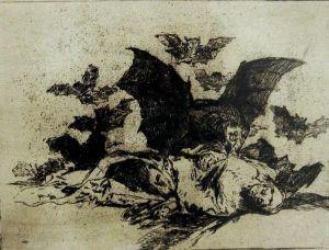 Goya. Grabado de la serie Los Desastres de la Guerra - No. 72 – Las Resultas. Imagen Wikipedia.