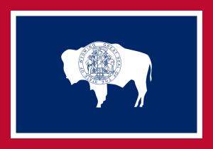Bandera del Estado de Wyoming. Imagen: wikipedia.org/