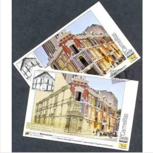 Postales con  el Correo de Carmelitas, Caracas.  Imagen: articulo.mercadolibre.com.ve/
