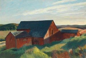 Cobb's Barns, South Truro. Óleo sobre lienzo. 87.2 × 127.2 cm. Imagen: http://whitney.org/