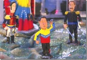 Figuras chavistas en un pesebre en diciembre de 2011. Imagen: eju.tv/